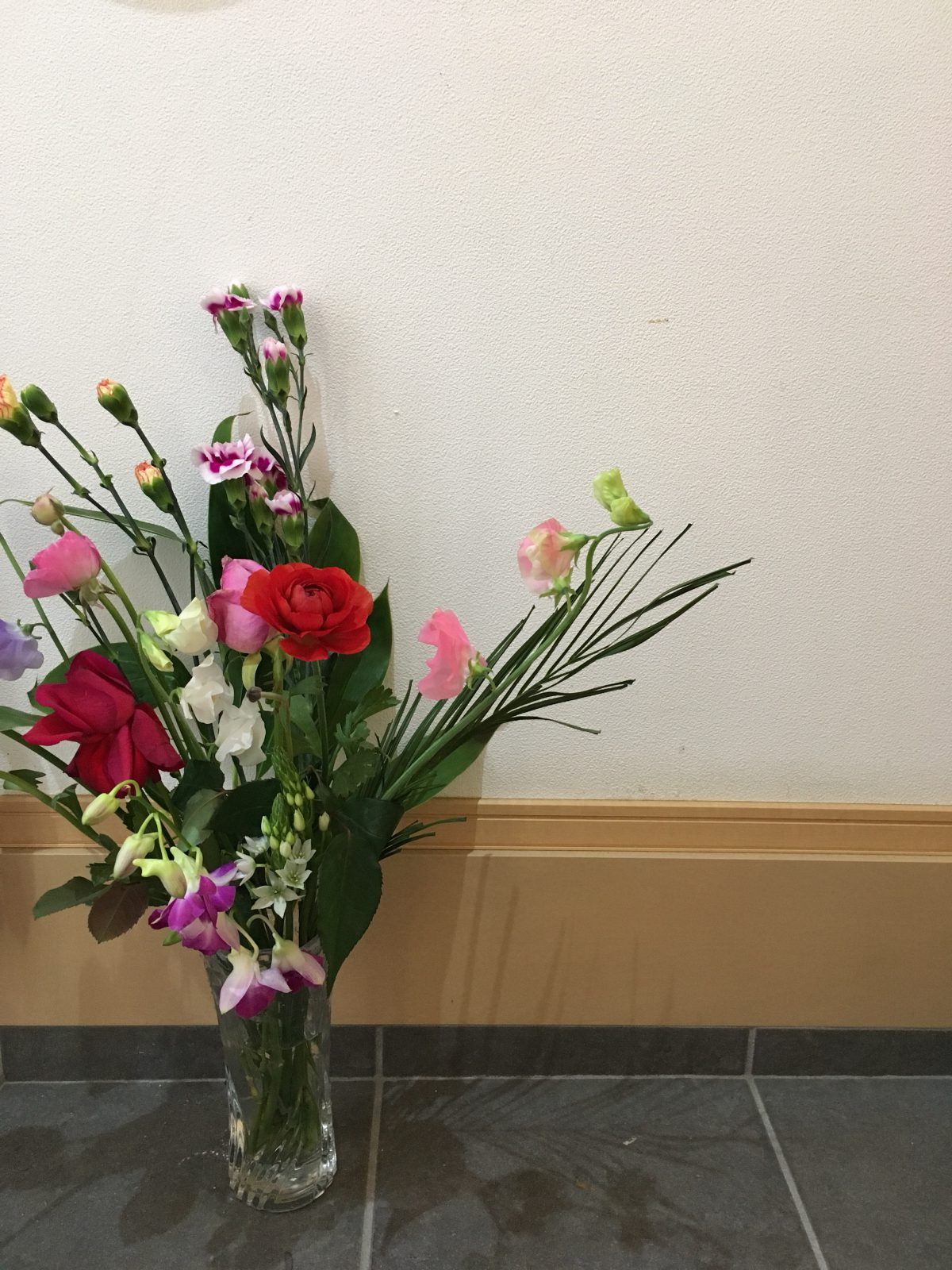 今週のお花と切り花の水揚げ、根焼きの話